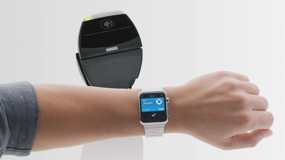 payment using apple pay on smart watch