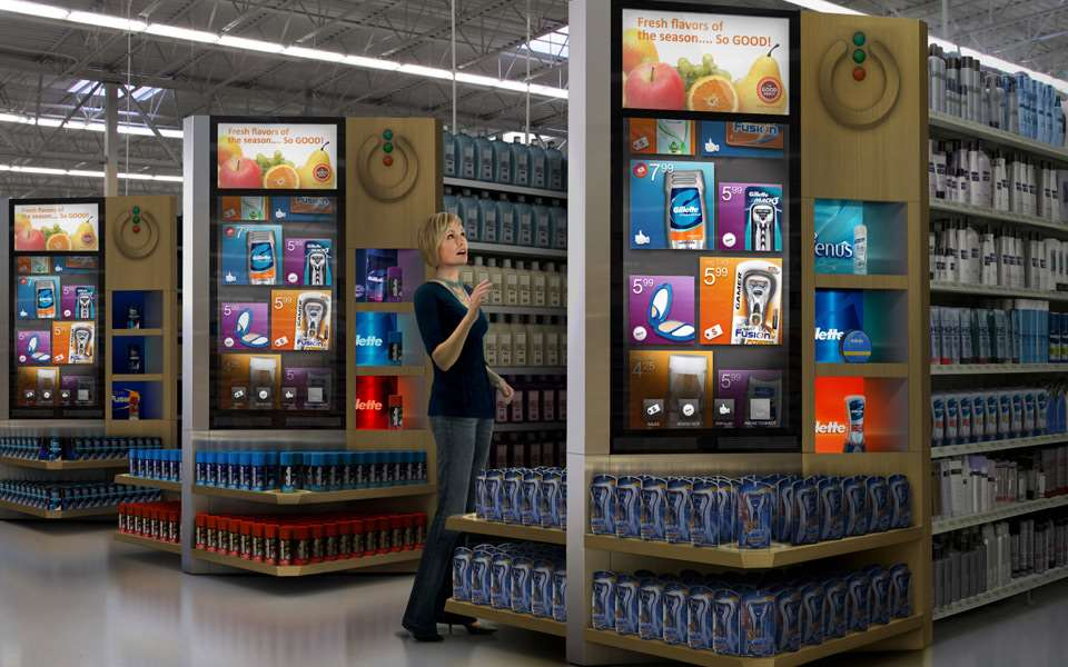store of the future with digital signage