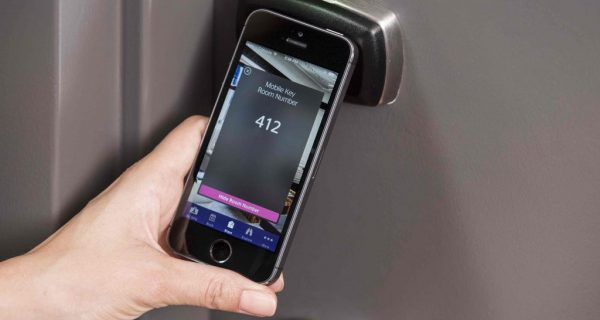 phone based keyless entry system in use