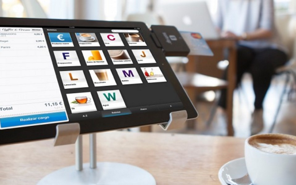 tablet based pos terminal in coffee shop